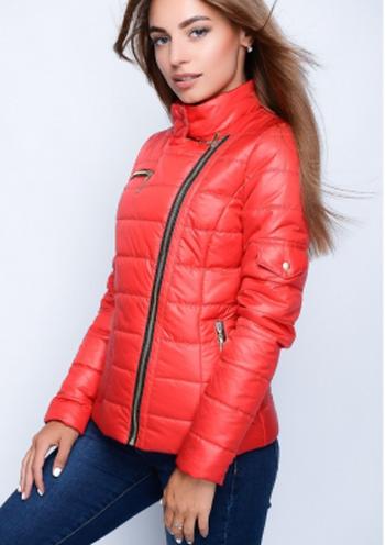 00f397eb216 Купить Женская стеганая куртка-косуха (красный) 8526 Украина ...