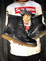 Мужские ботинки dr martens black, натуральная кожа , фото 1