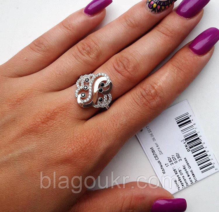 Серебряное кольцо с золотом Селфи