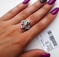 Серебряное кольцо с золотом Селфи, фото 1
