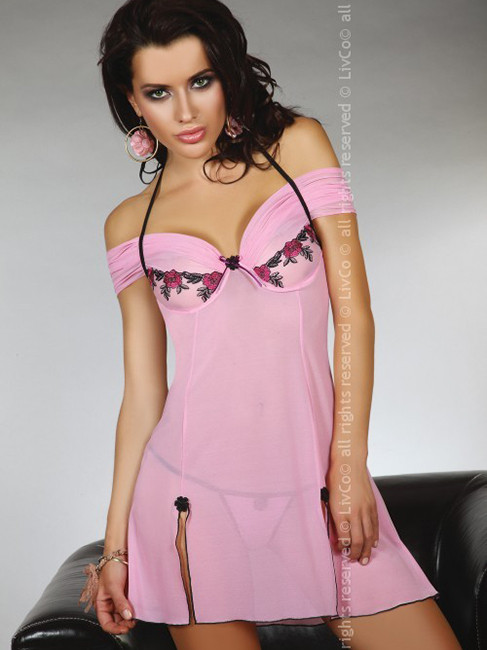 Романтичная розовая сорочка CHAMELI от Livia Corsetti