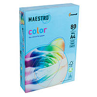 Бумага А4 Maestro Color AB48 синий