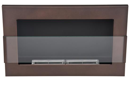 Биокамин Nice-House 65x40 см, с стеклом, коричневый