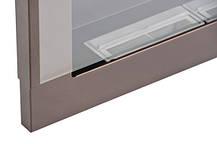 Биокамин Nice-House 65x40 см, с стеклом, коричневый, фото 3