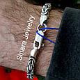 Мужской серебряный браслет Византия, фото 8