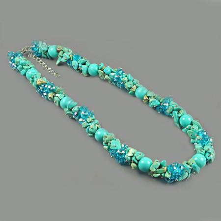 Ожерелье из бирюзы - магнезита