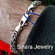 Мужской серебряный браслет Византия, фото 5