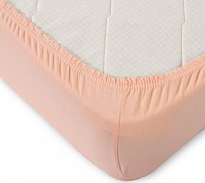 Простынь на резинке  Персик , поплин (140*200*34см) Комфорт-текстиль, фото 2