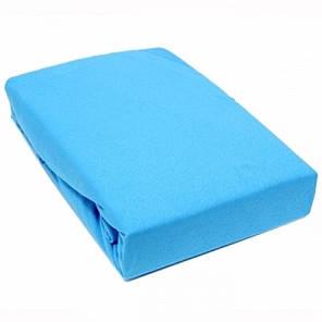 Простынь на резинке Лазурь поплин (90*200*25см) Комфорт-текстиль, фото 2