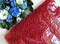 Жемчуг красный диаметр 4 мм Вес упаковки 10 г около 330 шт