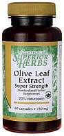 Экстракт листьев оливы Супер Сила (Olive Leaf Extract Super Strength), 750 мг 60 капсул
