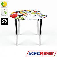 Обеденный стол стеклянный (фотопечать) Круглый Fruit Shake от БЦ-Стол