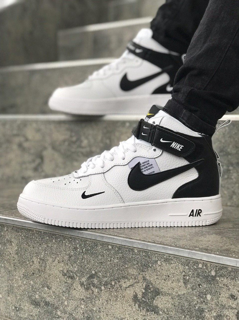 Мужские кроссовки Nike Air Force high (white black), мужские Nike air force cfec268bf55