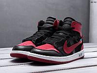 Мужские кроссовки в стиле Nike Air Jordan 1 X Off-White, красные. Код 0c9d75c4afb