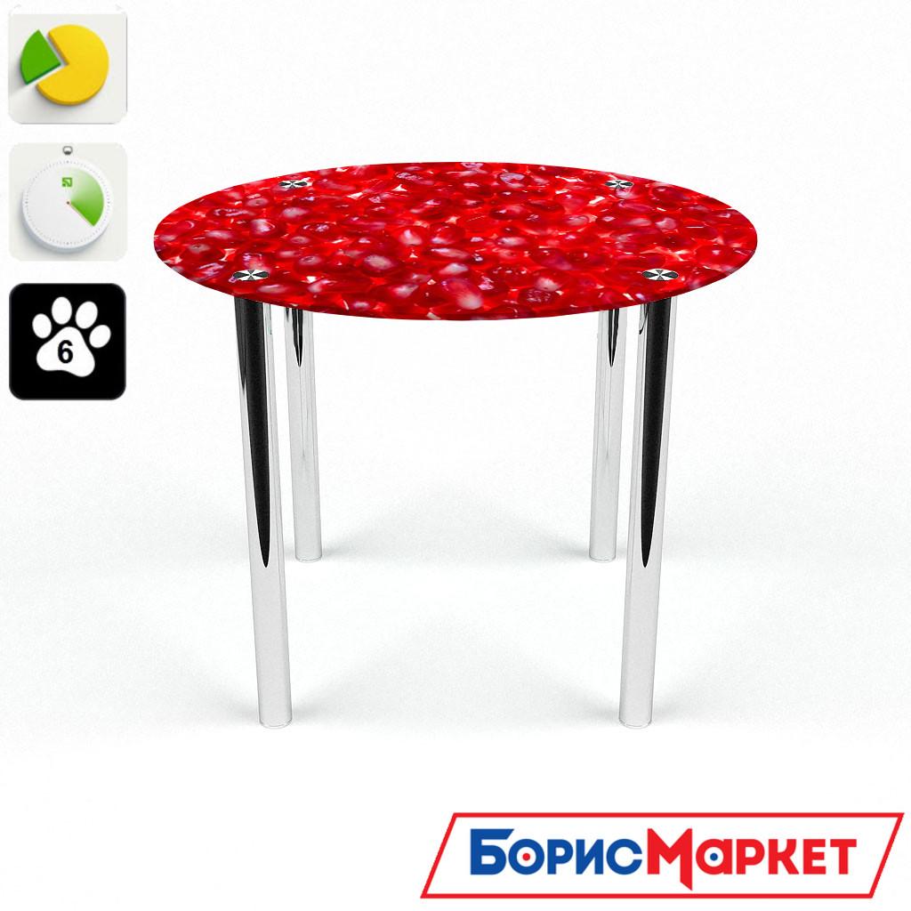 Обеденный стол стеклянный (фотопечать) Круглый Garnet от БЦ-Стол