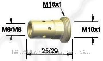Держатель наконечника BW 142.0008, М6/25 для сварочной горелки BW 501D