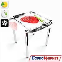 Обеденный стол стеклянный (фотопечать) Круглый Ice berry от БЦ-Стол