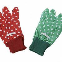 Перчатки садовые nic красные (NIC535901)