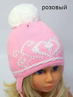 Демисезонная вязанная шапка, фото 1
