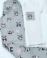 Женская хлопковая пижама для сна и дома. Комплект женский