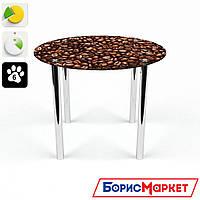 Обеденный стол стеклянный (фотопечать) Круглый Morning aroma от БЦ-Стол