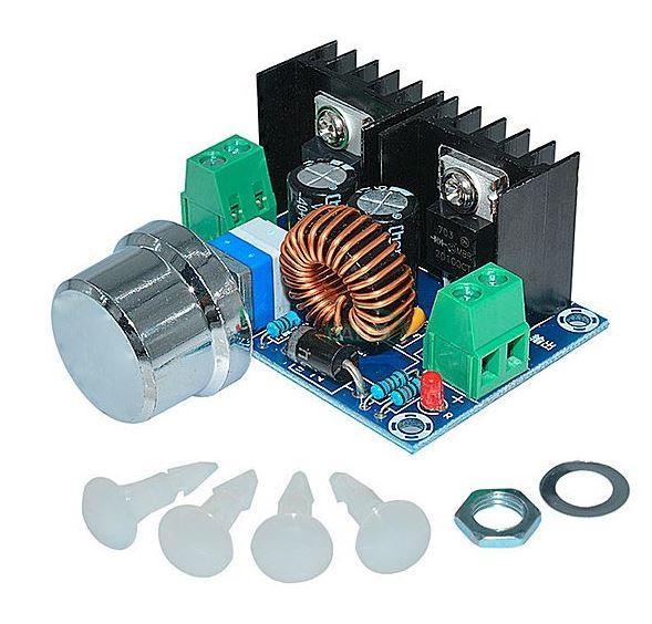 Понижающий преобразователь DС-DC XL4016E1+R, 4-40V, 1.25-36V, 8A, 180KHz