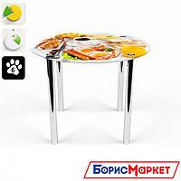 Обеденный стол стеклянный (фотопечать) Круглый Nice breakfast от БЦ-Стол
