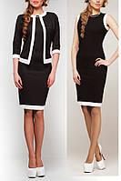 Классический комплект платья с пиджаком, цвет черный
