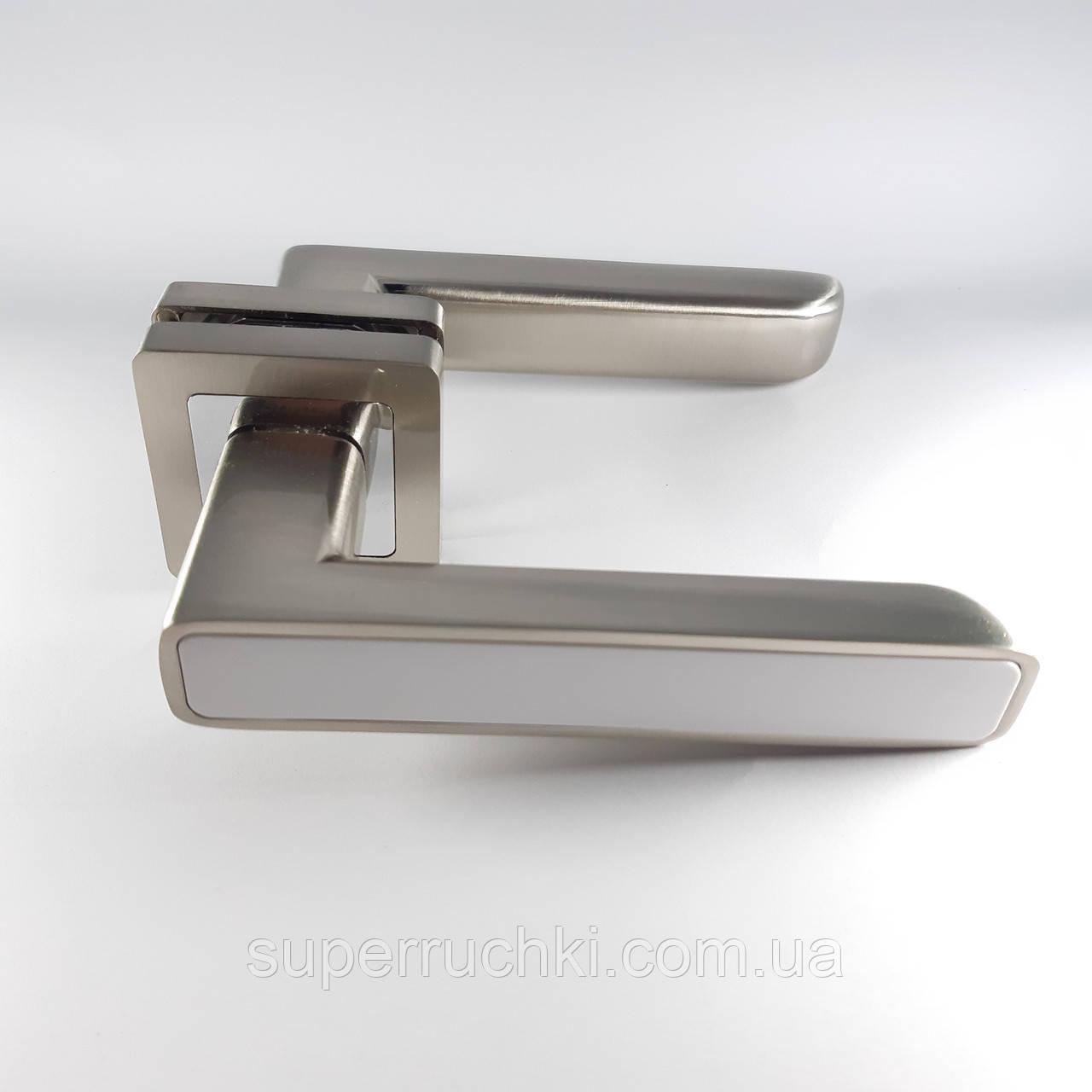 Ручка Punto QR MARS SN/WH-19 (мат.никель-белый)