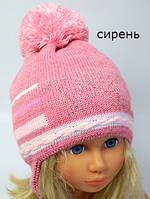 Вязанная детская шапка на весну