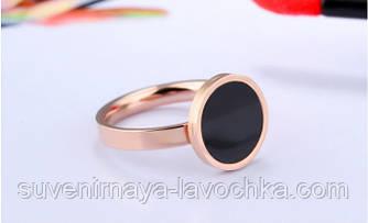 Кольцо розовое золото с фианитом размер 8