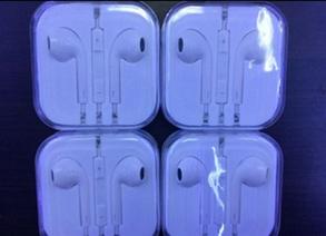 Наушники  белые ipone с микрофоном, фото 2