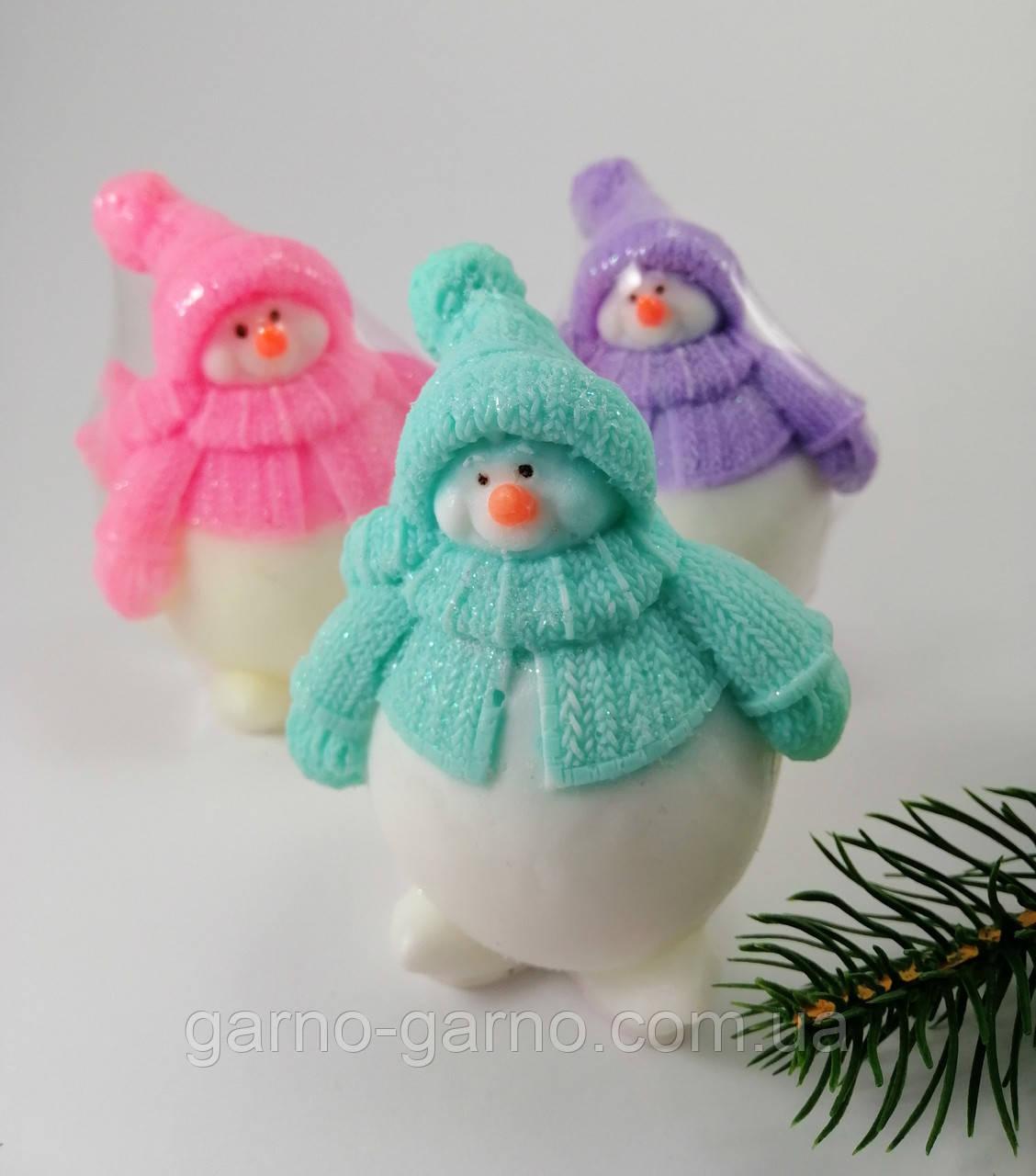 Снеговик Новогоднее мыло ручной работы
