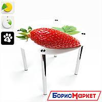 Обеденный стол стеклянный (фотопечать) Круглый Sweet berry от БЦ-Стол