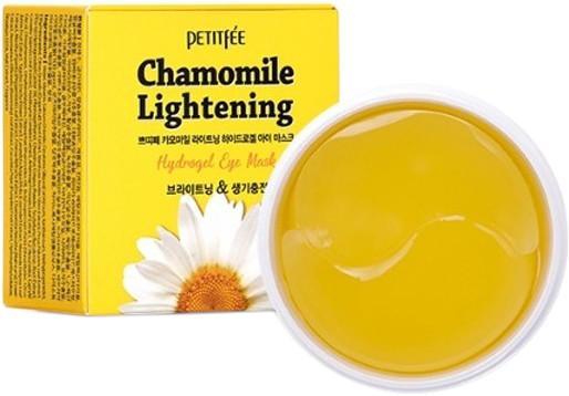 Гидрогелевые осветляющие патчи для глаз Petitfee Chamomile Lightening Hydrogel Eye Mask