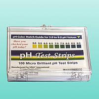 Тест-полоски для определения pH, 100 полосок