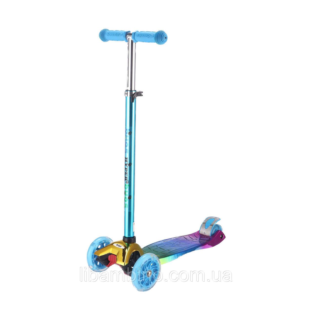 Дитячий самокат Bugs Hyper - Chameleon Blue Violet