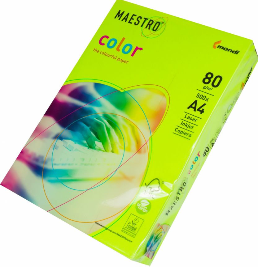 Бумага А4 Maestro Color Neon Neogn зеленый