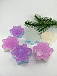 Сніжинка Новорічне мило ручної роботи, фото 8