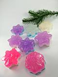 Сніжинка Новорічне мило ручної роботи, фото 6
