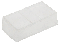 Колпачок силиконовый прямоугольный для защиты сдвоенных кнопок PB2 -ВW8365