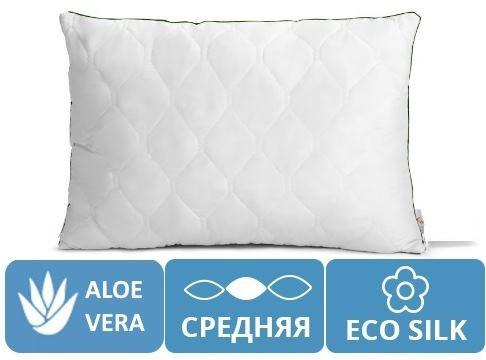 Подушка Eco Aloe Vera 70х70 Ekosilk антиаллергенная №141 (СРЕДНЯЯ)
