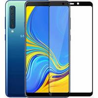 Защитное стекло Samsung Galaxy A9 (2018) Black (Клей по Всей Поверхности)