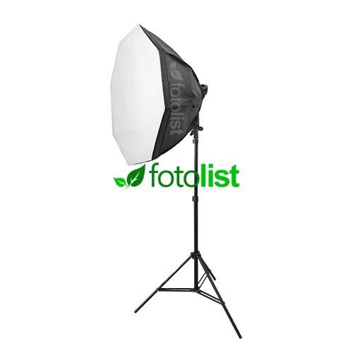 Постоянный флуоресцентный свет Mircopro FL-305, Ø80 см, 4х28w, 560 Вт, 5500К + стойка 2.0 м