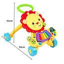 Каталка-ходунки 2in1 Baby Walker 869-52 (игровой центр,звук,свет,первые шаги), фото 5