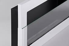 Биокамин Nice-House 90x40 см, с стеклом, белый, полный комплект, фото 3