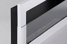 Биокамин Nice-House 90x40,с стеклом,белый,полный комплект, фото 3