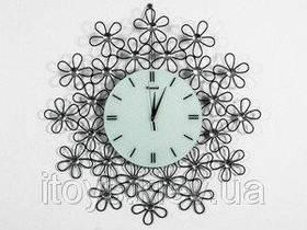 Часы настенные фигурные из металла и хрусталя