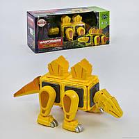 Конструктор магнитный LQ 625 (16) Динозавр, 20 деталей, свет, звук, в коробке