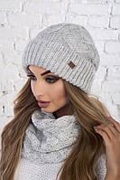 Молодежная шапка (в продаже есть компект шапка+снуд), фото 1